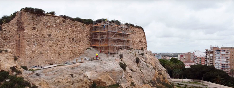 THE CONSOLIDATION WORKS OF THE FORT OF DESPEÑAPERROS BEGINS