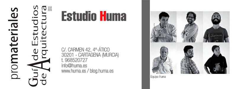 Huma architecture selected in the Guide of Promateriales
